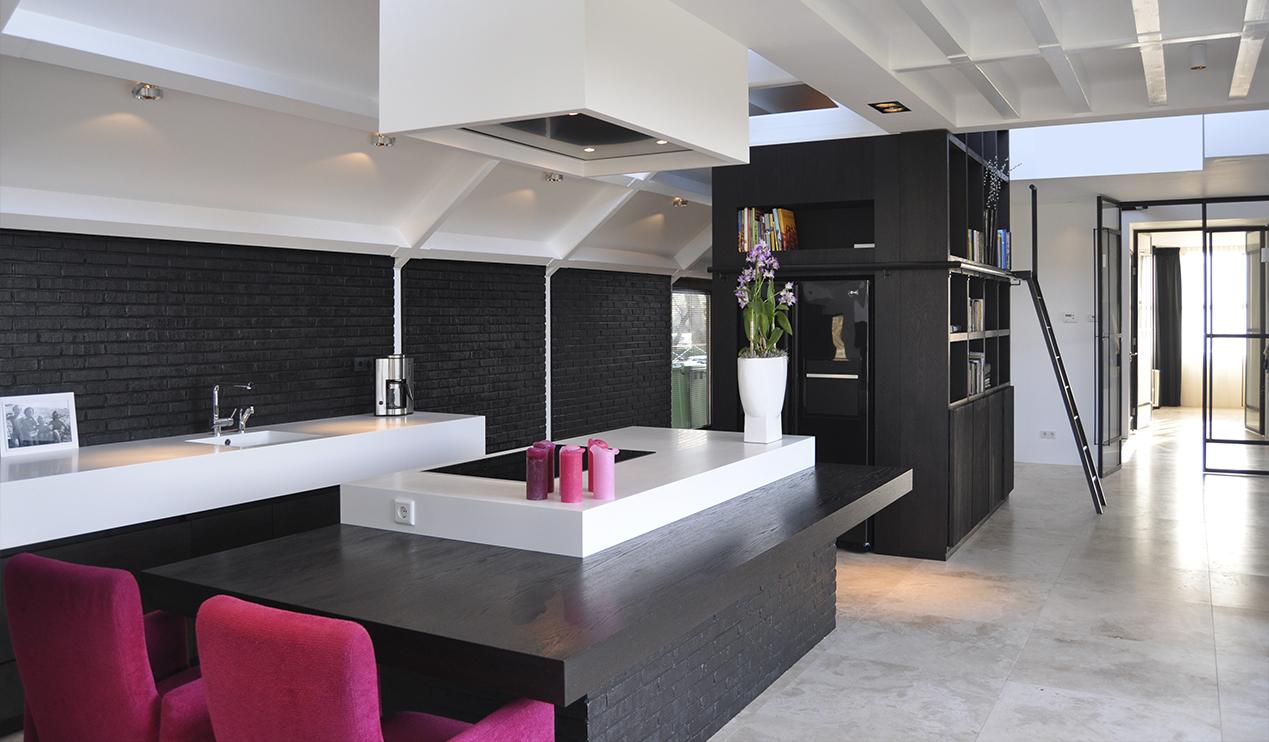 Kitchen, White villa heiloo, jeroen de nijs