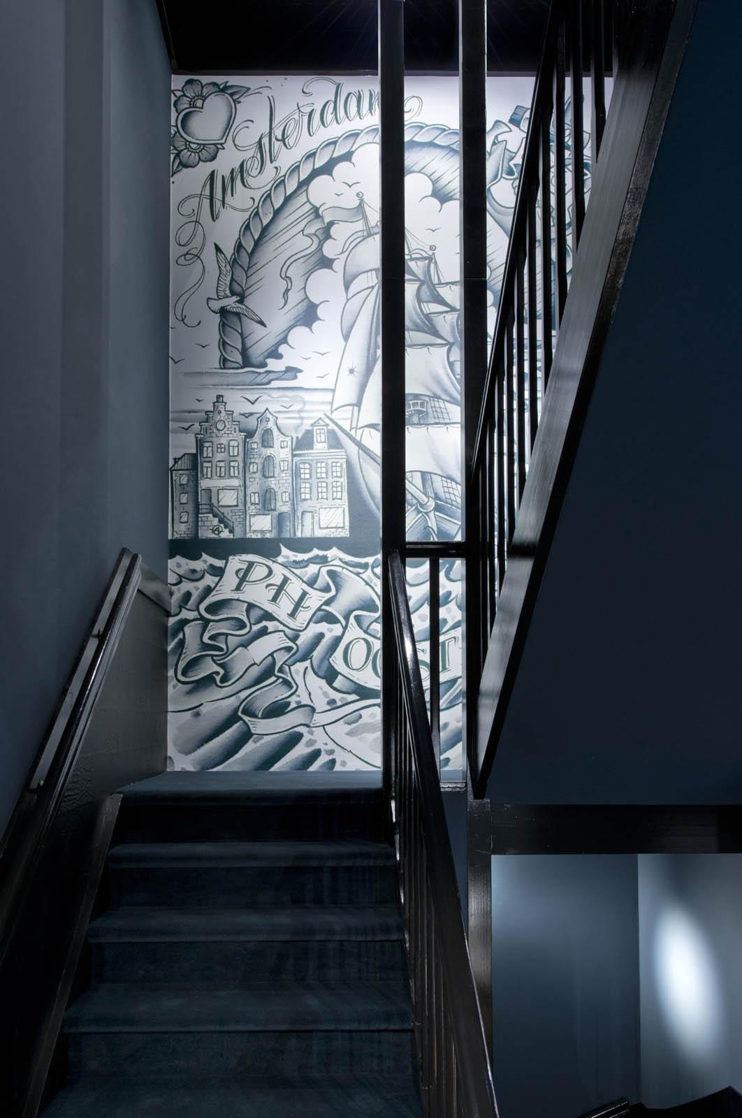 Staircase, Piet hein hotel, by Jeroen de Nijs