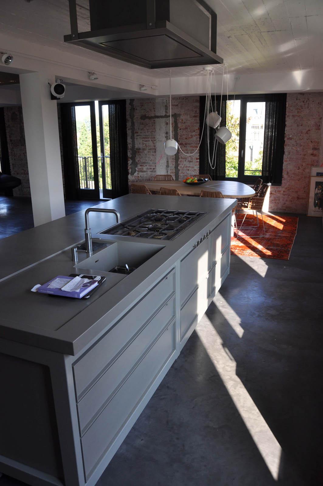 Kitchen, Loft Amsterdam, by Jeroen de Nijs