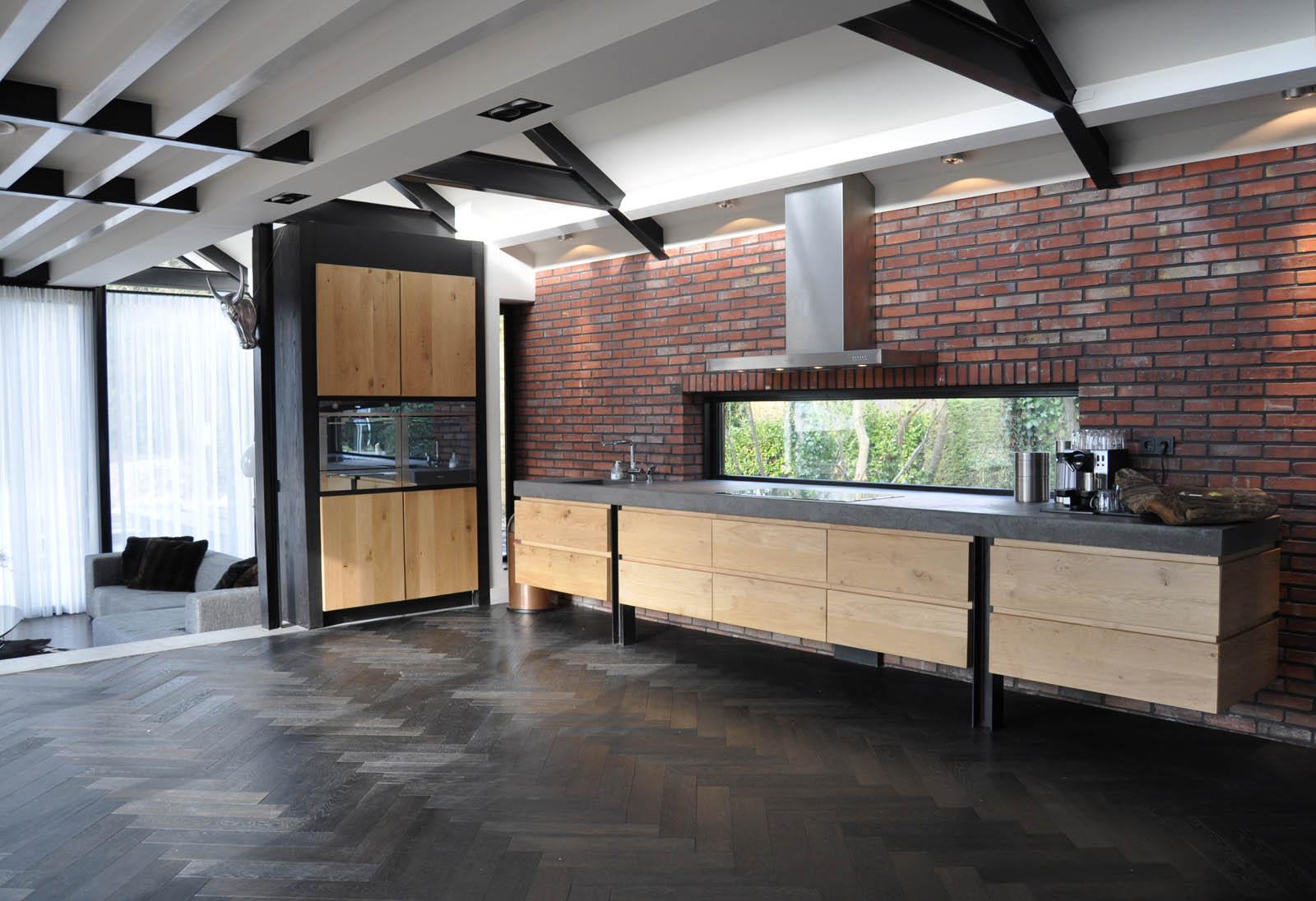 Kitchen, Villa Heiloo, by Jeroen de Nijs