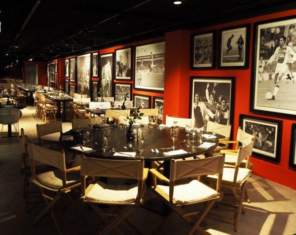 Paardenburg restaurant, Wall of Fame, Johan Cruijff, Ajax Amsterdam Arena, skybox stadion, by Jeroen de Nijs