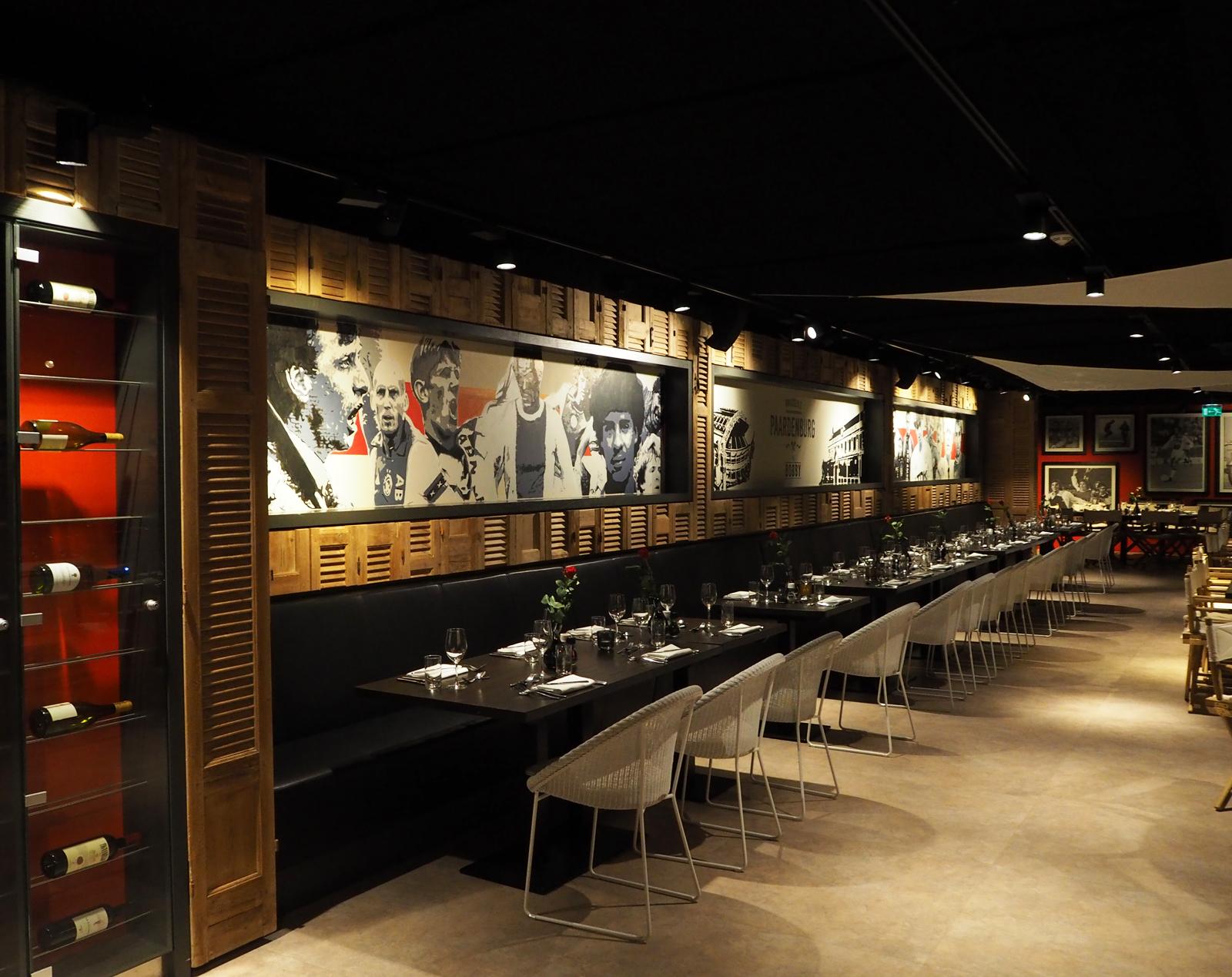 Paardenburg restaurant, Jaap Stam, Litmanen, Edwin van der Sar, Ajax Amsterdam Arena, skybox stadion, by Jeroen de Nijs