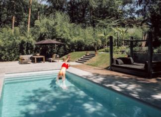tropical garden with pool, Blaricum