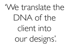 We translate the DNA of the client….